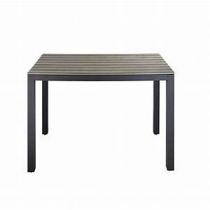 Table De Jardin Grise : table de jardin en composite imitation bois et aluminium ~ Teatrodelosmanantiales.com Idées de Décoration