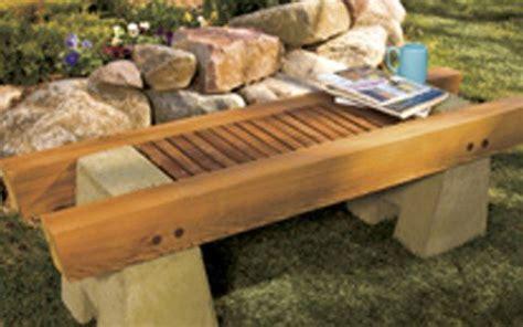 concrete  wood garden bench plan woodwork city