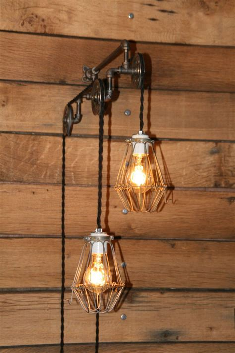 industrial pulley light wall sconce trolley wall light