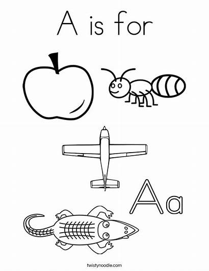Coloring Letter Pages Aa Words Printable Tracing