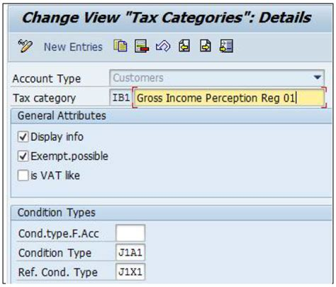 sap tax category table sap sd suporte different taxes ar