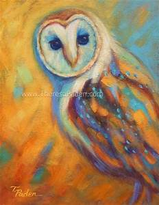 Daily Painters Abstract Gallery: Barn Owl Painting by ...