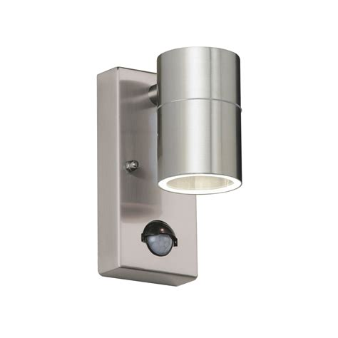 endon canon pir outdoor wall light ip44 35w polished