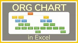 How To Make An Organizational Chart In Excel Tutorial