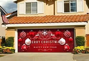 garage door christmas decorations