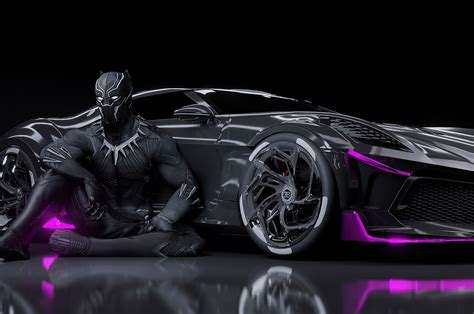 The successful continuation of their heritage poses a. 2560x1700 Black Panther Bugatti Chiron La Voiture Noire ...
