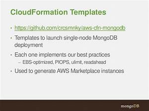 mongodb and aws integrations With cloudformation template generator