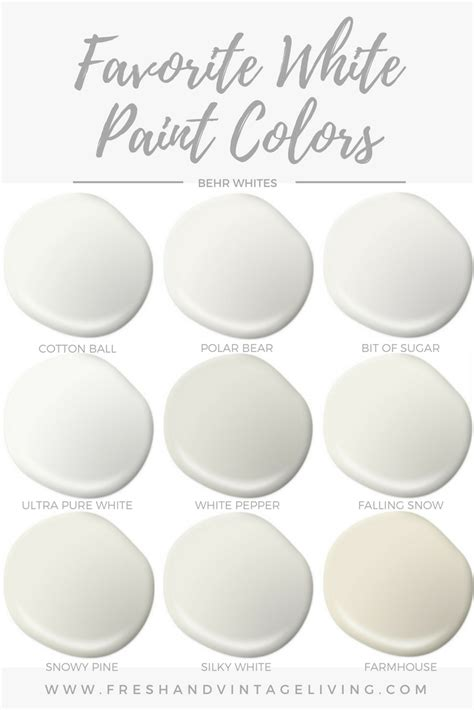 favorite white paint colors fresh vintage living