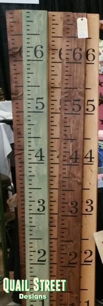 Hand Painted Wood Growth Chart Ruler   Custom Colors