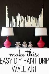 Make, This, Easy, Diy, Paint, Drip, Wall, Art