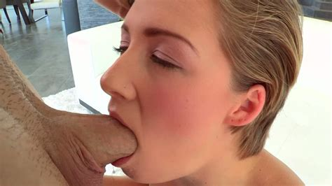 Lovely Blonde Chick With Short Hair Enjoys Sucking Big Cock