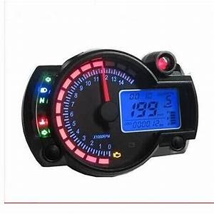 2017 Modern Koso Rx2n Style Motorcycle Meter Backlight Adjustable Wheel Size Adjustable Lcd