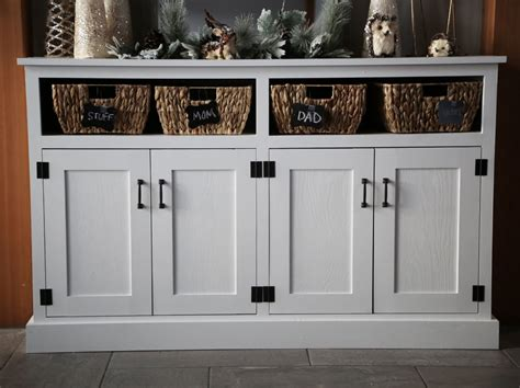 Entryway Consoles - white entryway console with open shelves