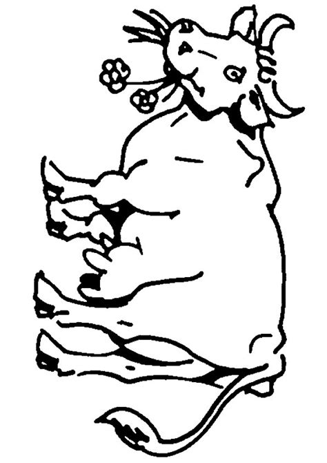 Kleurplaat Koeien Melken by Coloring Page Cow Coloring Pages 15