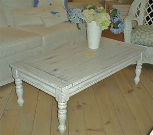 shabby chic coffee table sold With coffee table white legs wood top