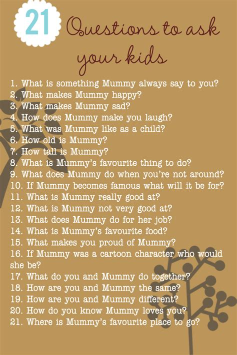 dating because my is fascinating 200 | 21 things to ask your kids