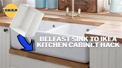 fit  belfast sink   ikea kitchen cabinet youtube