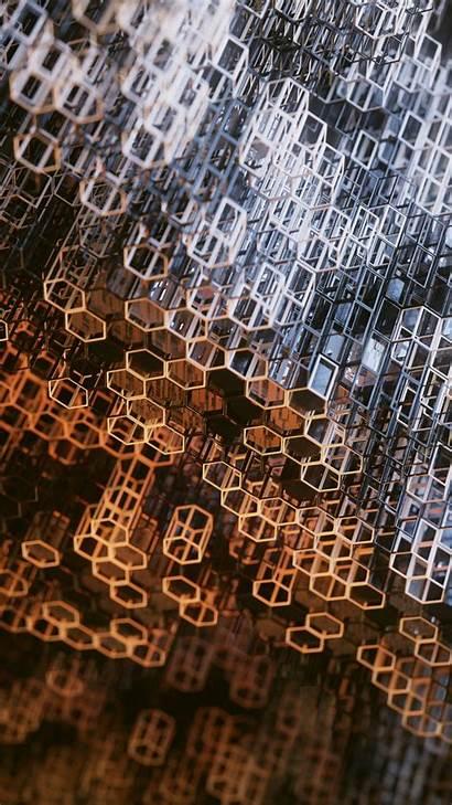 Structure Metallic Construction Hexagons Prisms Mesh Hexagonal