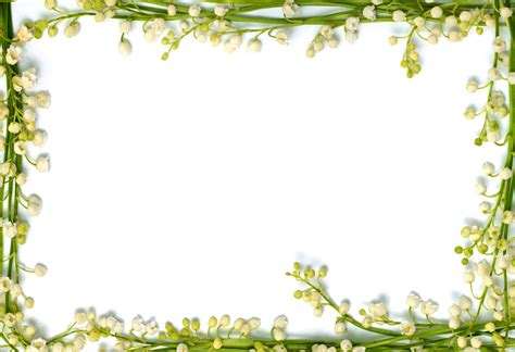 Lily of the Valley Flower Borders and Frames