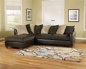 Living room royal furniture outlet for Brown leather sectional sofa ashley furniture