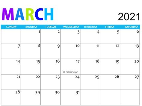 These holidays are approved by the central or state government or even. Free March 2021 Calendar Vacations List Printable - Set ...
