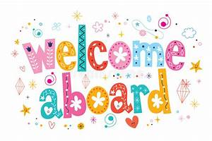 Welcome Aboard Typography Lettering Decorative Text Stock ...