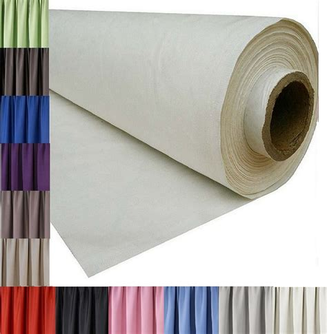 Thermal Drapery Lining Fabric - 3 pass blackout thermal curtain lining fabric material 12