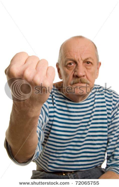 picture    impatient bitter  man   fist