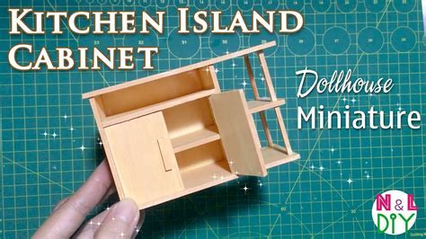 DIY Miniature Kitchen Island Cabinets   How to make