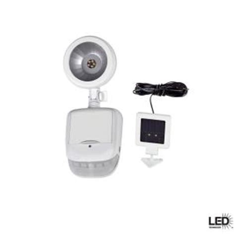 defiant 180 degree outdoor solar white led motion security