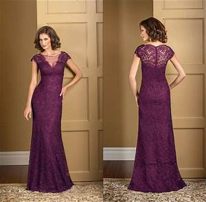 plus size plum lace mermaid mother of the bride dresses With plum dress for wedding