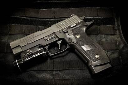 Sig Sauer P226 Gun Wallpapers Weapon Flashlight