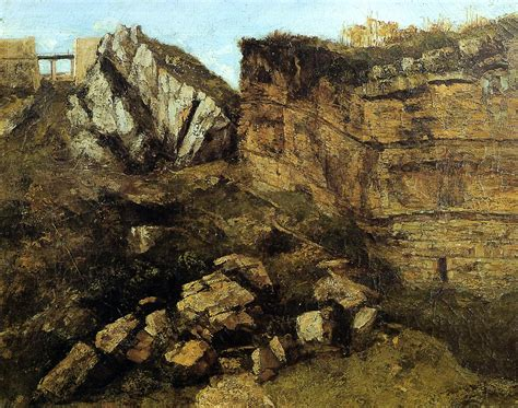 crumbling rocks  gustave courbet wikiartorg