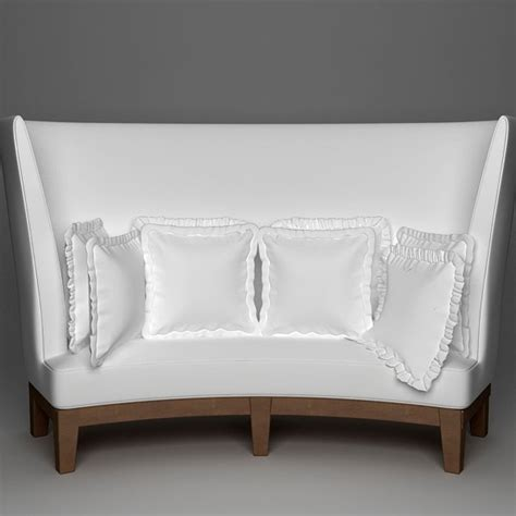 curved settees and sofas curved high back sofa 3d model cgstudio