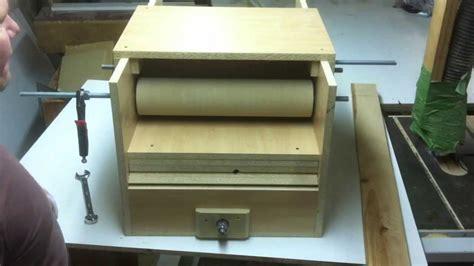 cheap homemade drum sander  feeder
