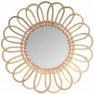Miroir En Rotin : miroir en rotin marguerite ~ Nature-et-papiers.com Idées de Décoration