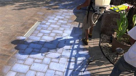 unilock sealer sealing another hardscape with the bp sealer and joint
