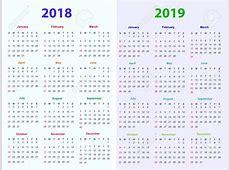 Calendar 2018 And 2019 CALENDAR