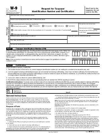irs w9 required for carrier appointment allied