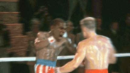rocky iv gif perfectly sums  thunder spurs series