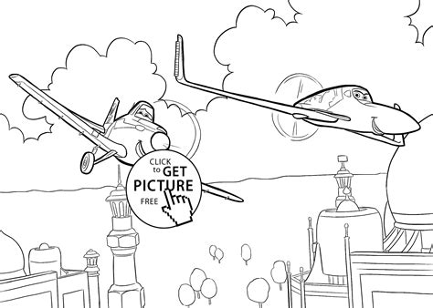 Dusty And Ishani From Planes Coloring Pages For Kids