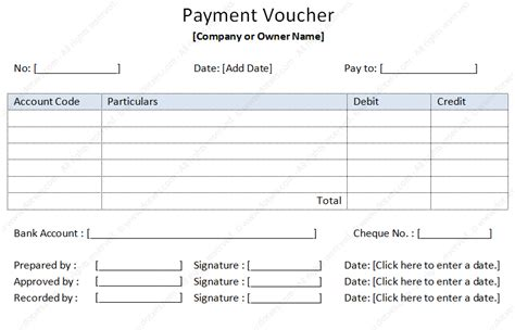 payment voucher sample soft templates