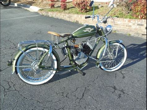 whizzer sportsman  motorcycles  sale gas