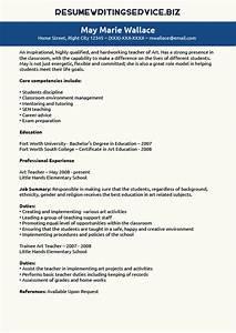 art teacher resume sample resume writing service With teacher resume service