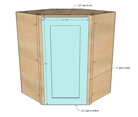 How To Build A Corner Cabinet With Doors - white wall kitchen corner cabinet diy projects