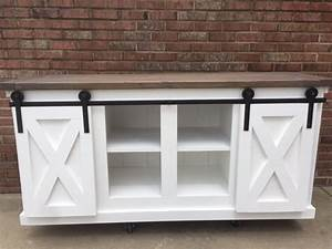 ana white sliding barn door console table diy projects With barn door sofa table