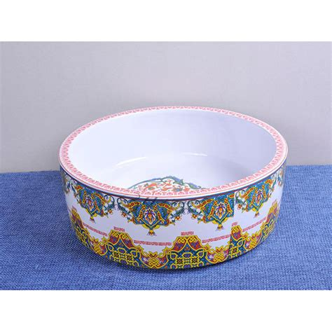 vintage enamel ling pattern ceramic sink bowl  bathroom