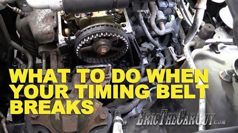 timing belt breaks ericthecarguy