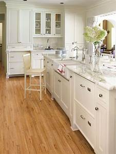 for a cozy yet modern kitchen pair your light wood floors With kitchen colors with white cabinets with sticker makers