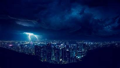 4k Lightning Storm Night Wallpapers Edler Raz